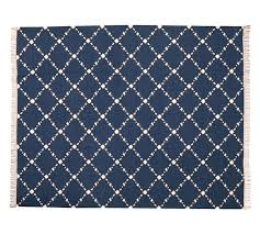 Dot Patio Furniture by Dot U0027n Dash Recycled Yarn Indoor Outdoor Rug Indigo Pottery Barn
