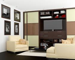 Storage Ideas For Living Room by Living Room Wardrobe With Space For Tv In The Middle Design Made