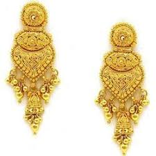 design of earrings gold gold earrings at rs 23000 pair gold earrings id 6673455288