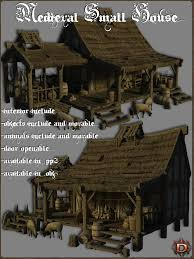 medieval small house 3d models dante78