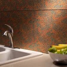 Fasade Kitchen Backsplash Panels Fasade Backsplash Hammered In Copper Fantasy