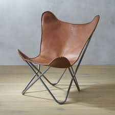 G Chair 1938 Tobacco Leather Butterfly Chair Cb2
