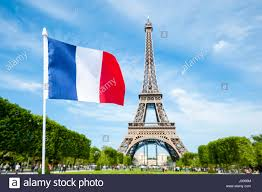 Paris Flag French Flag Flying In Front Of The Eiffel Tower In Paris France