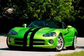 Dodge Viper Green - car model 2012 dodge viper srt10