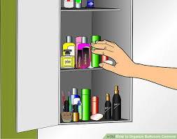 Organize Bathroom Cabinet by How To Organize Bathroom Cabinets 7 Steps With Pictures