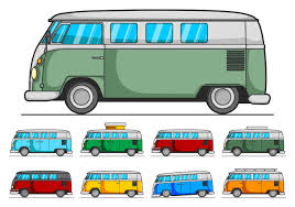 volkswagen bus art hippie bus free vector art 654 free downloads