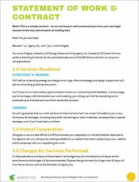 statement of work template statement of work template for
