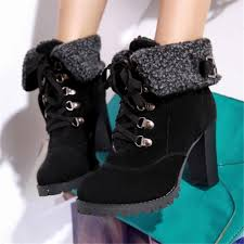 womens boots in style 2017 aliexpress com buy winter s fashion plus size high heeled