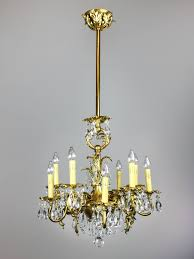 Gas Chandelier Gold Plated Rococo Converted Gas Chandelier 10 Light