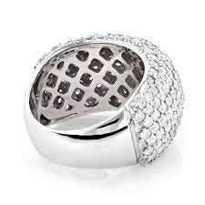 large diamond rings large pave diamond ring 5ct anniversary band 14k gold