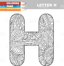 coloring book capital letters hand drawn template download