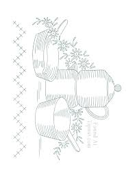 Kitchen Embroidery Designs Vintage Embroidery Designs Dishware Set Tipnut Com