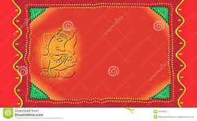 Templates Of Invitation Cards Ganesh On Invitation Card Royalty Free Stock Images Image 3478019