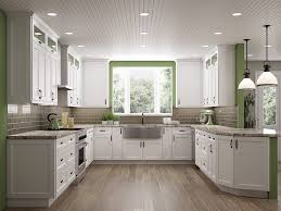 Frosted White Shaker Kitchen Cabinets RTA Cabinet Store - Kitchen cabinets store