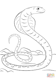 cute cartoon cobra coloring page free printable coloring pages