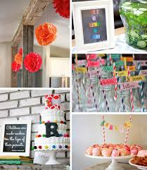 themed baby shower breathtaking colorful baby shower decorations pictures best