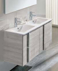 double sink wall hung vanity unit athena sandy grey 2 door 2 drawer 120cm wall hung vanity unit and