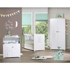 pack promo ensemble lit bébé 60x120 cm commode à langer
