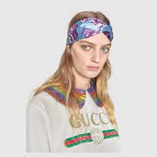 silk headband gg wallpaper print silk headband gucci women s scarves