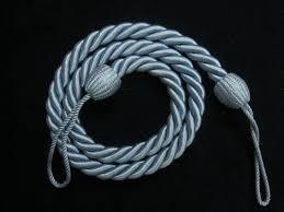 2 curtain tiebacks slender slinky cord drape hold