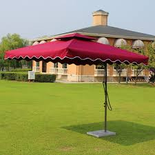 Sun Umbrella Patio 2 2x2 2 Meter Steel Iron Outdoor Parasol Garden Sun Umbrella Patio