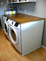 Diy Clothes Dryer Folding Table Over Washer And Dryer Notice The Leg On The Left