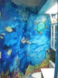 aquatic bathroom murals artwasteland studios