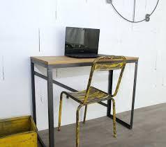 bureau d 騁ude industriel bureau style industriel en metal et bois ado massif 3