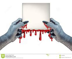 scary halloween sign zombie hands sign stock illustration image 45963804