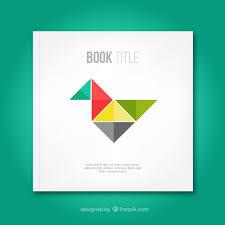 templates for book covers free book cover with origami bird vector free download