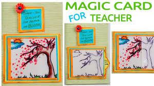 magic card for teacher diy card card making teacher u0027s day