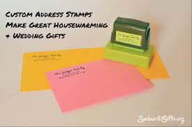 address stamps make great housewarming u0026 wedding gifts