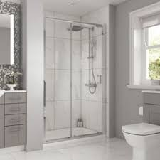 1200mm Shower Door Wickes Rectangular Slider Semi Frameless Recess Door Chrome