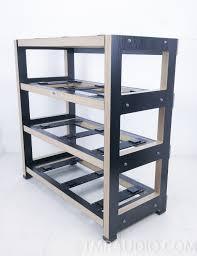 Wood Audio Rack Sra Scuttle Isorack Custom 4 Shelf Audio Rack By Silent Running