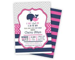 whale baby shower invitations pink navy whale baby shower invitations party print express