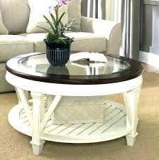 White Coffee Table With Wood Top Round Coffee Tables Wood Round Wood