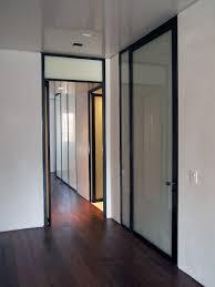 metal door with glass blackened steel doors 1 caliper studio