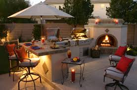 outstanding backyard kitchen design small bar green ceramic grill