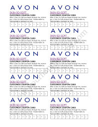 avon skin so soft coupon card avon by becca youravon com