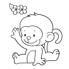 baby monkey coloring pages printable throughout amazing cute baby