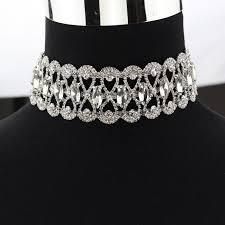 black choker necklace aliexpress images Fashion rhinestone choker necklace women luxury chocker chunky jpg