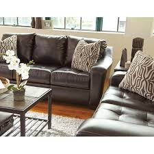 Wolf Furniture Outlet Altoona by Contemporary Faux Leather Sofa With Tufted Seat Cushions By