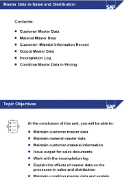 sap sd part 2 master data in sd ppt invoice sales