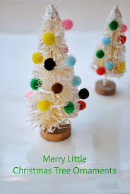 Pom Trees Mini Bottle Brush Tree Ornaments Handmade Ornament No 5