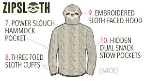 zipsloth the world u0027s laziest hoodie by rhyme combinator u2014 kickstarter