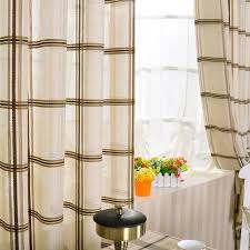 modern plaid and check striped cotton and linen curtains buy