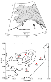 Pavlof Volcano Map Observation And Modeling Of Source Effects In Coda Wave