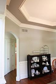 The Stormcolored Ceiling And Light Grey Trim Takes This Baby Blue - Living room ceiling colors