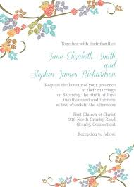 invitation template flat floral free printable birthday