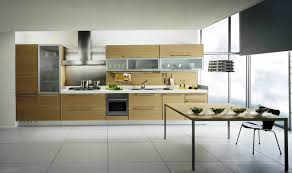 Modern Glass Kitchen Table Alluring Modern Style Kitchen Cabinets With Large Black Glass